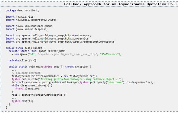 Modelo de Invocación Asíncrona en CXF – Un poco de Java y +